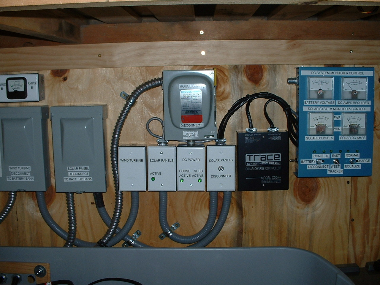 emergencypower Electrical Wiring Of A House With Solar Panel old solar wind power control system Wiring Up a Solar Panel
